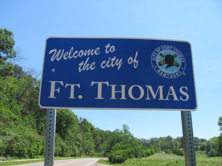 welcome to fort thomas ky !! photo by andy hemmer PR