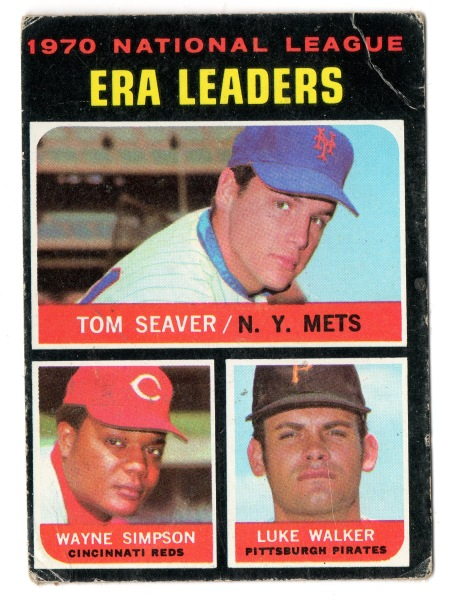 1971 Tom Seaver Topps #68 1971 National League ERA Leaders