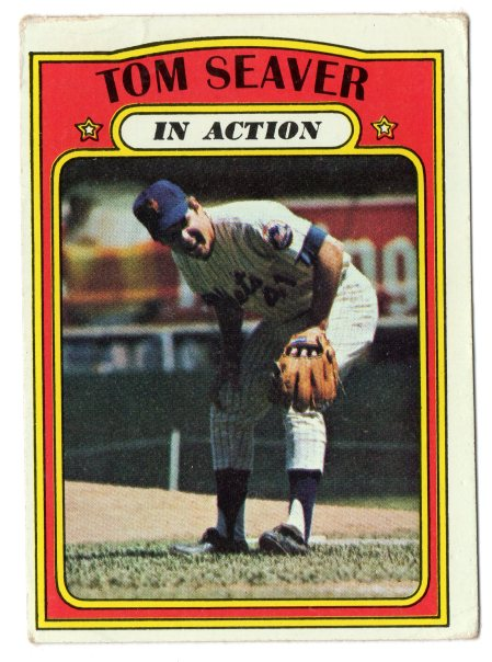1972 Tom Seaver Topps 446 In Action