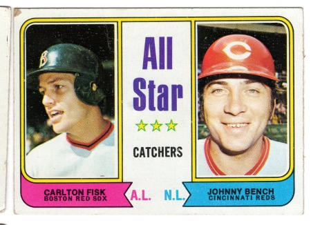 1974 Johnny Bench Carlton Fisk All-Star Catchers Topps 331
