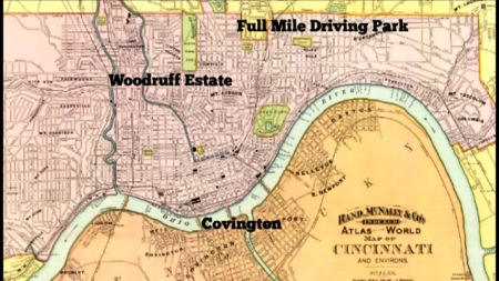 REDS STADIUM OPTIONS IN 1981: Full Mile Driving Park in Oakley, Woodruff Estate in Clifton and a Licking River site in Covington, Ky.