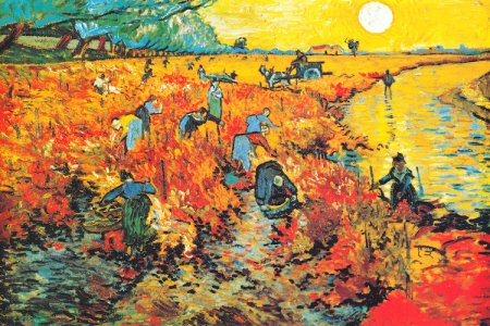 The Red Vineyards of Arles by Vincent Van Gogh