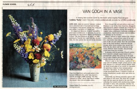 Vincent The Red Vineyards at Arles Lindsey Taylor and Flower School in The @WSJ