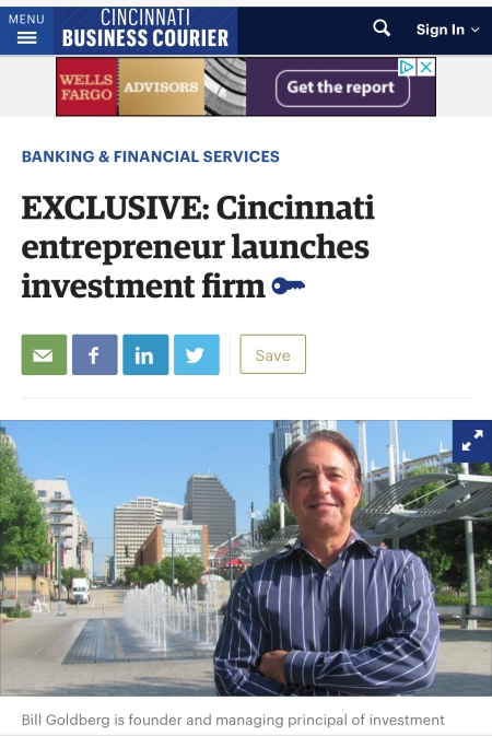 Bill Goldberg in Cincinnati Business Courier for W Alexander Group