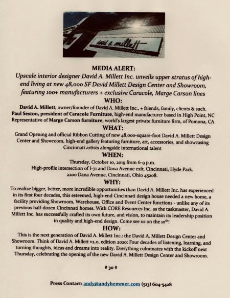 Media Alert Tuesday for David Millett Design Center PR by andy hemmer.jpg