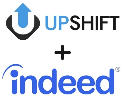 Upshift and Indeed logos