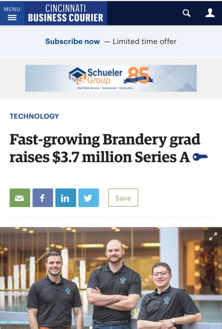 Upshift in Cincinnati Business Courier Nick Jordanovski Alex Pantich Steve Anevski